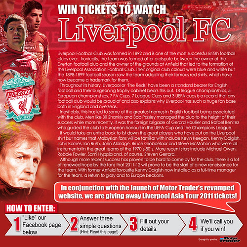 Motor Trader : Liverpool Football Club Asia Tour 2011 Contest