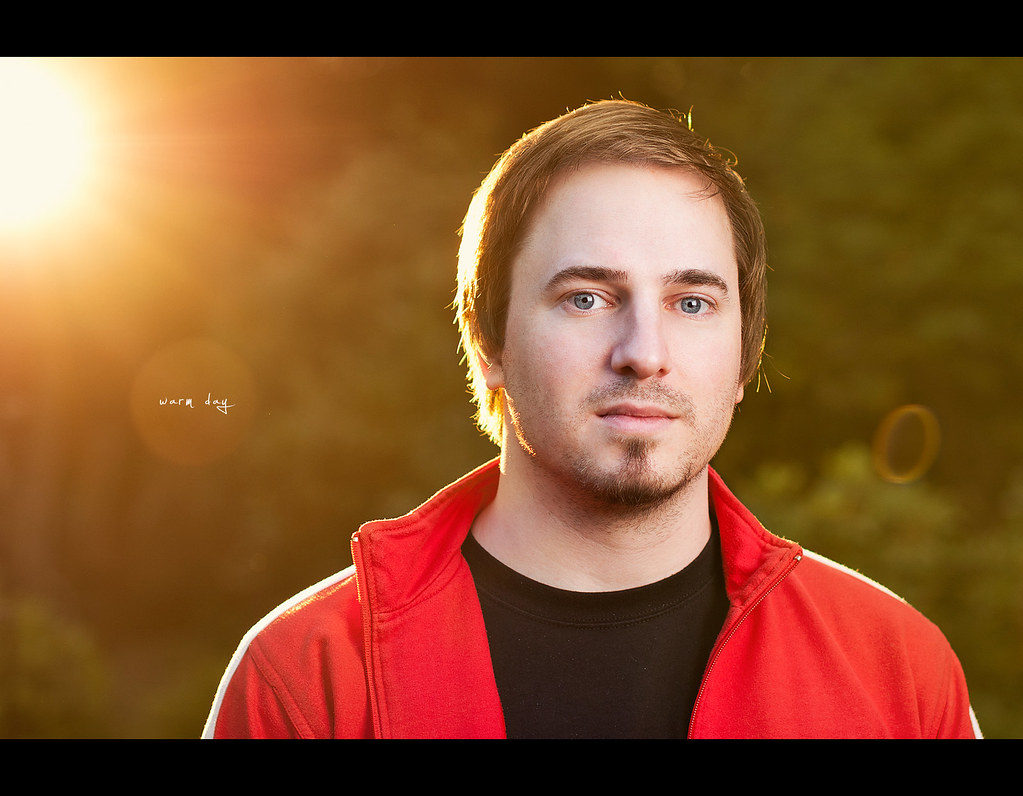 Project 365, Day 332, 332/365, Strobist, Self Portrait, cto, warm, colour, gel, summer, pale, bokeh