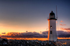 Scituate Harbor Light (DeadDogsEye) Tags: light sunset lighthouse beach sunrise harbor lighthouses hdr scituate massachsetts deaddogseye