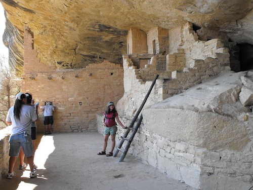 Ruth at Balcony House, Mesa Verde