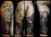 Geisha, Koi and Bodhidharma (tsinelas30) Tags: tattoo ink geisha koi oriental sleeve 34 bodhidharma tsinelas blackgrey convocar