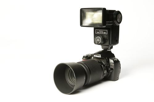 Nikon D40 + Vivitar 285