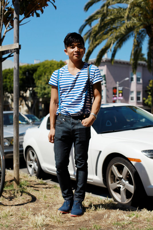 bluestripe - san francisco street fashion style