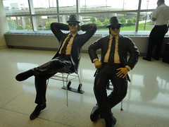 Blues Brothers at the airport.
