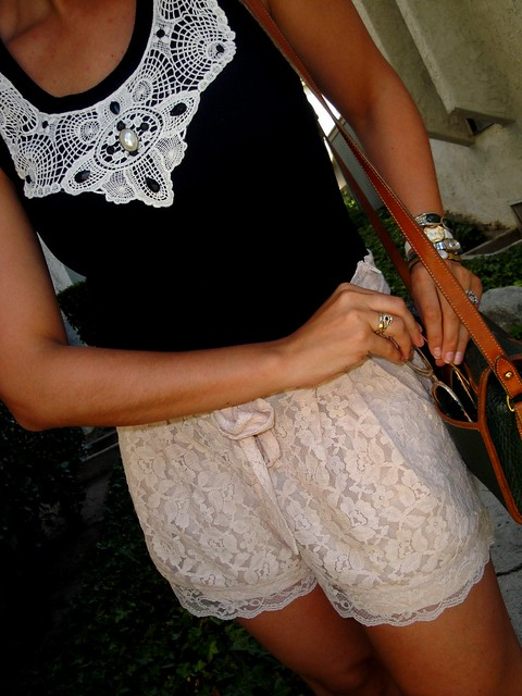 Lace Shorts H&M