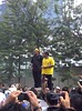 Hatta Ramli (Kuala Krai MP) and Chegu'bard rallying Bersih supporters outside KLCC by freemalaysiatoday
