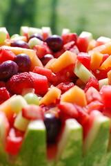 Fruit Salad (jillmotts) Tags: strawberries watermelon grapes melon fruitsalad cantaloupe fruitbowl