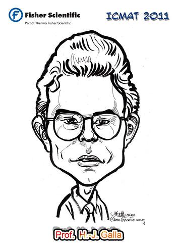 Caricature for Fisher Scientific - Prof.  H.-J. Galla