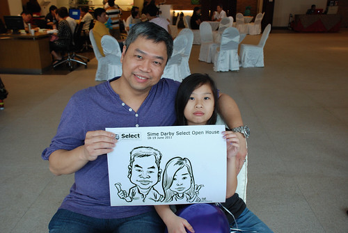 Caricature live sketching for Sime Darby Select Open House Day 1 - 18