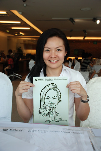 Caricature live sketching for Sime Darby Select Open House Day 2 - 11