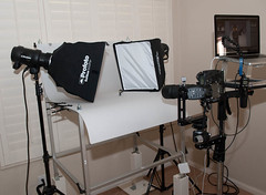 Ghost Soldier's Photography Setup (~Ghost Soldier~) Tags: camera studio lens table soldier photography stand nikon soft lego fig box laptop air awesome ghost mini right equipment stuff pro shooting really nikkor gs f4 rolling d3 d1 calumet ballhead 200mm x2 profoto foba bh55 macbook monolights 1x13 waccessories dimiu