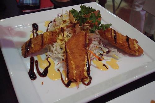 Chicken Skewer Katsu Salad
