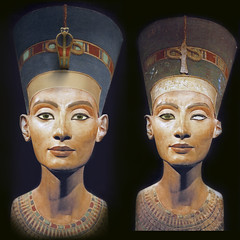 Nefertiti Bust Restoration (GeometerArtist) Tags: sculpture sun ancient god egypt queen egyptian aten nefertiti akhenaten hieroglyph monotheism meritaten amarna setepenre neferneferure meketaten ankhenspaaten neferneferuaten