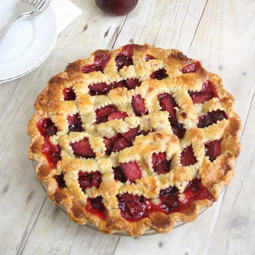 Plum Raspberry Pie