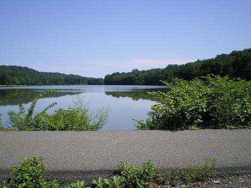 Atop the dam