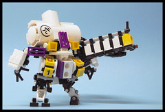 mecha01 (The Slushey One) Tags: white yellow one gun purple halo blogged reach slushy mecha 2011 hardsuit brickarms slushey