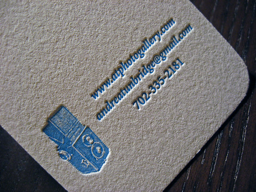 Halftone Letterpress Business Card