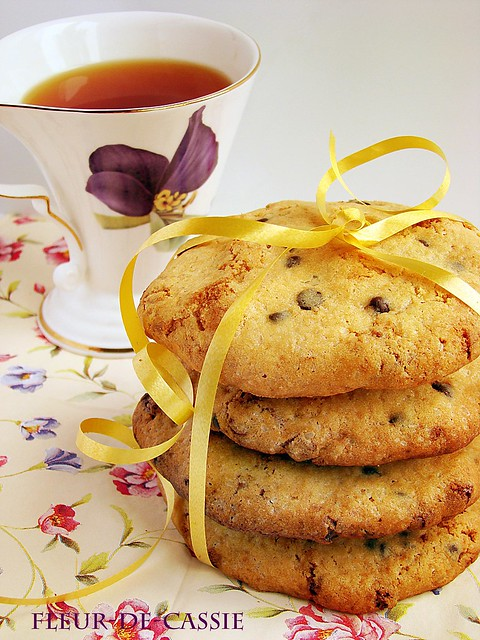 печенье с двумя видами шоколада