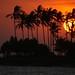 Pôr-do-sol visto do hotel em Senggigi