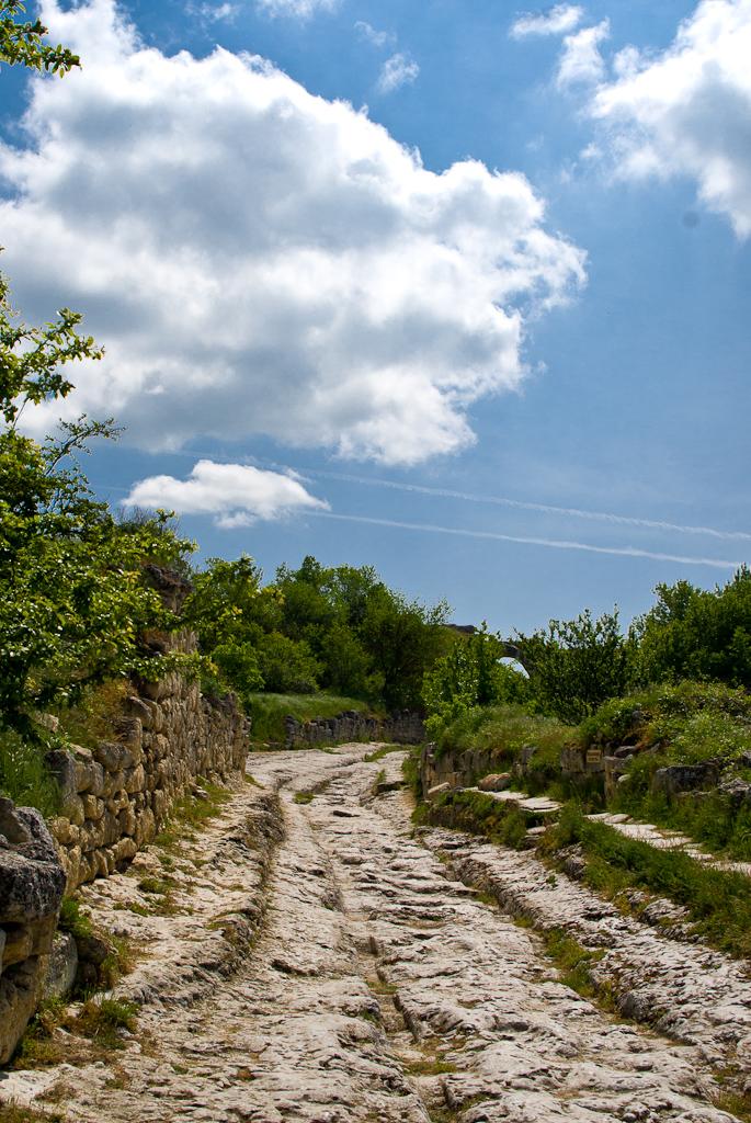 Chufut-Kale. May. Old Road.