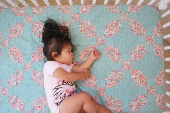 while she was sleeping