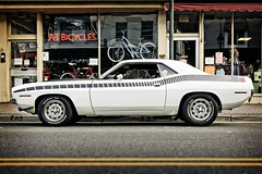 she was a fast machine... (Steve Stanger) Tags: car nj cuda barracuda oceancounty pointpleasant d40 plymouthbarracuda nikond40 nikon35mmf18