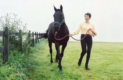 Dr. Morgan, pictured here with her horse, Belle, knew at a young age that she wanted to be a veterinarian when, on a road trip with her parents, she saw the horses in Louisville and Lexington.
