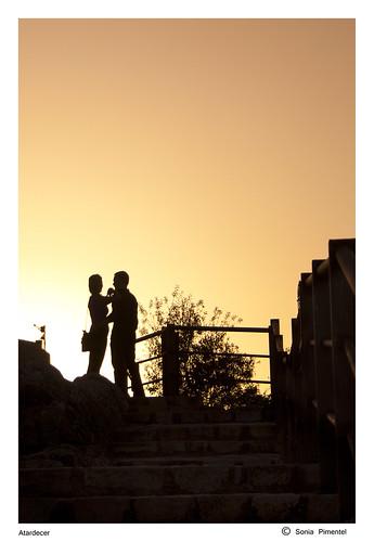 pareja,jaen,atardecer,castillo,catalina,fotografia