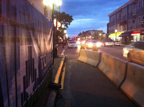 Atwells sidewalk detour