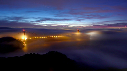 Another Golden Gate View from Hawk Hill - January 16, 2011