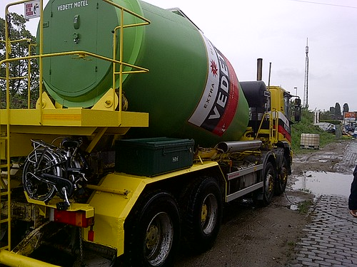 The #Vedettmotel Cement Truck