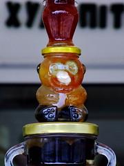 Honey bear (markb120) Tags: bear glass greece honey jar ellada kamena vourla