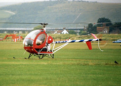 HUGHES 269C G-AYLX (BIKEPILOT) Tags: flying airport aircraft aviation helicopter shoreham airfield egka hughes269c gaylx