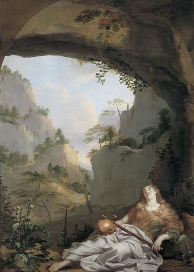 Charles Le Brun, Marie-Madeleine à la grotte de la Sainte-Baume (1656-1657)