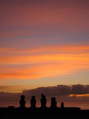 Easter Island Sunset (jleathers) Tags: chile sunset southamerica dusk moai easterisland rapanui isladepascua hangaroa 2011