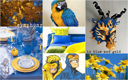 Symphony in Blue and Gold
