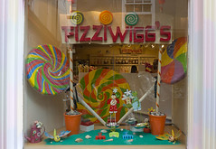 Fizziwiggs (Debsta76) Tags: uk window spiral brighton july sweets colourful lollipop thelanes sweetshop 2011