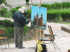 Armenian Painting at the Main Cathedral's garden (Alexanyan) Tags: city colour church garden painting paint cathedral kirche christian holy chiesa monastery armenia hay orthodox eglise armenian apostolic armenio armenien caucas armenie echmiadzin armeno caucasia armenienne hayasdan armenisch  vagharshapat