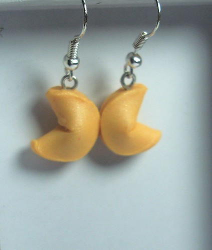 Fortune Cookie Earrings by Dulcebella