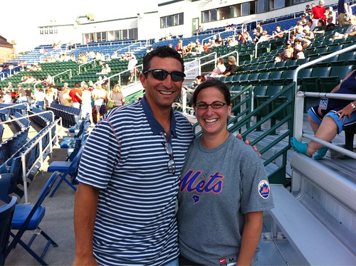 Me and J. P. Ricciardi at Sea Dogs/B-Mets game! Very nice guy.
