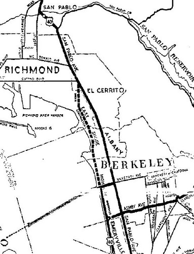 Detail of a map prepared by AAA and published November 1936 in the Tribune that includes Albany
