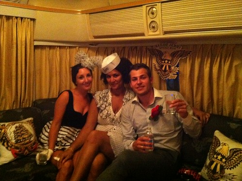In the Sailor Jerry RV with friends at the William Grant Portfolio Party
