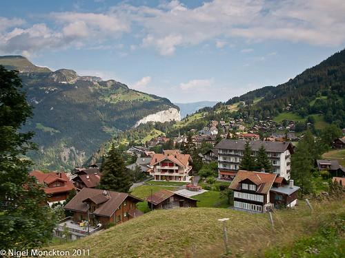 Wengen, from the train to Kleine Scheidegg