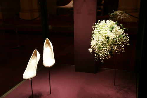The Duchess of Cambridge's wedding shoes and bouquet