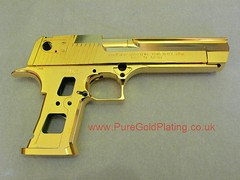 gold_plated desert_eagle_bb_gun (PureGoldPlating) Tags: gun goldplated bbgun goldplating deserteagle goldplatedgun chromeplatedgun chromedeserteagle