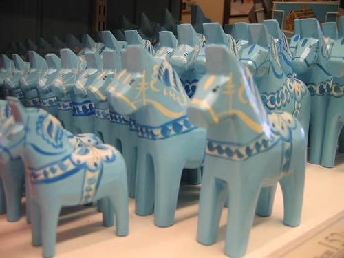 Baby Blue Dala Horses
