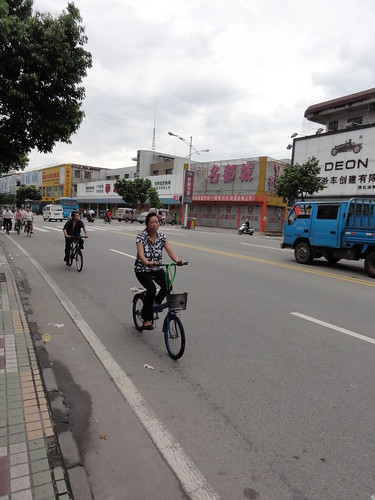 Bicycle riders in Zhongshan