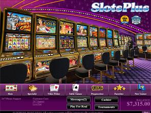 SlotsPlus Casino Lobby