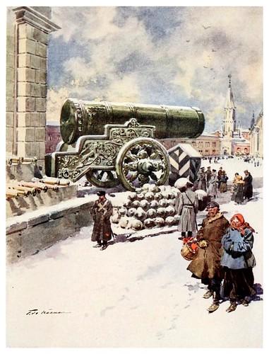 007-El cañon Tsar en Moscow-Russia-1913- F. de Haenen