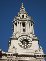 One of St Paul's Cathedral's Spires (steeev) Tags: uk london clock church cathedral stpauls clocktower
